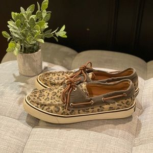 Cheetah Sperry Top Sider Size 8